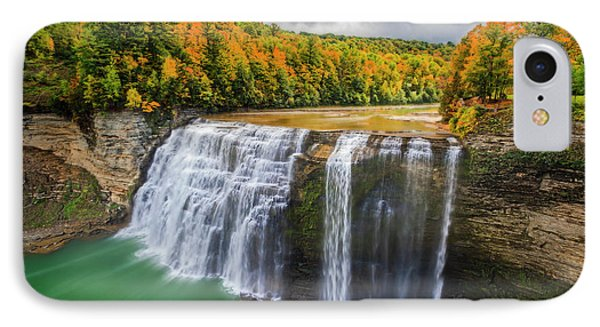 Middle Falls Letchworth State Park IPhone Case by Susan Candelario