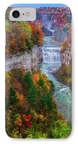 Middle Falls Of Letchworth State Park Phone Case by Mark Papke