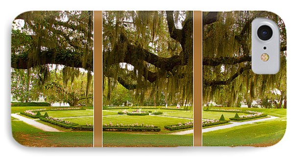 IPhone Case featuring the photograph Middleton Gardens Triptych by Bill Barber