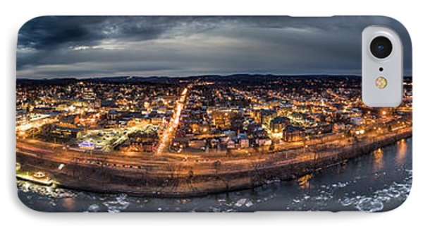 IPhone Case featuring the photograph Middletown Ct, Twilight Panorama by Petr Hejl