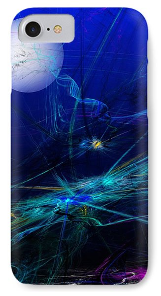 Midnight Abstract IPhone Case by David Lane