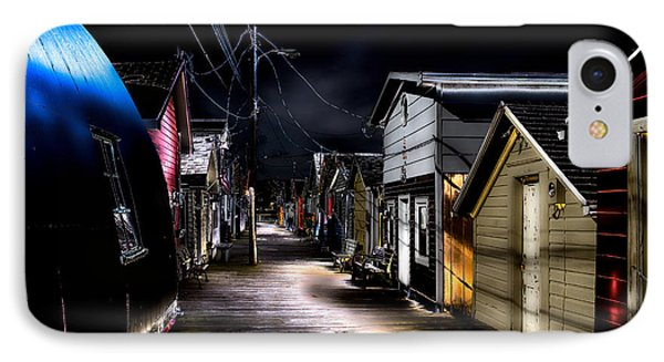 Midnight At The Boathouse IPhone Case by William Norton