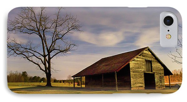 Midnight At The Mule Barn IPhone Case by George Randy Bass