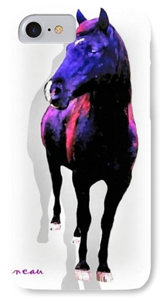 IPhone Case featuring the photograph Midnight Black Stallion by Sadie Reneau