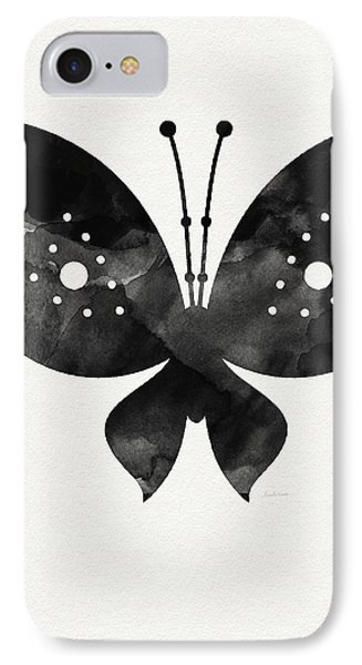 Midnight Butterfly 2- Art By Linda Woods IPhone Case by Linda Woods