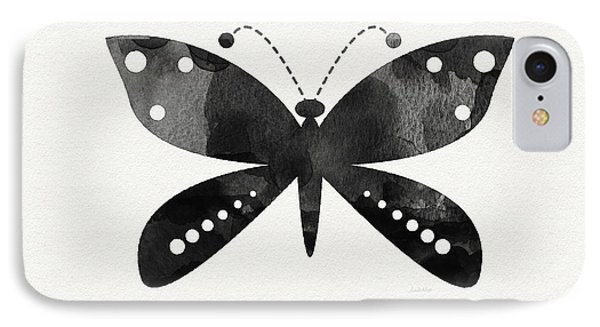 Midnight Butterfly 4- Art By Linda Woods IPhone Case by Linda Woods