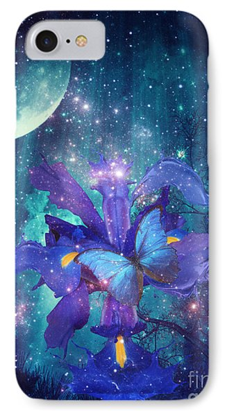 IPhone Case featuring the digital art Midnight Butterfly by Mo T