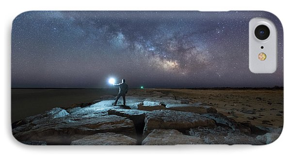 Midnight Explorer At The Barnegat Jetty  IPhone Case