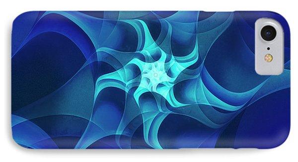 IPhone Case featuring the digital art Midnight Flower by Jutta Maria Pusl