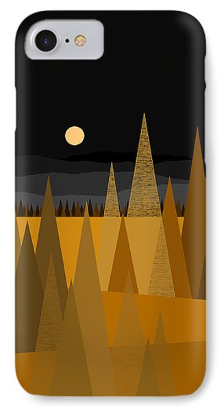 Midnight Gold IPhone Case by Val Arie