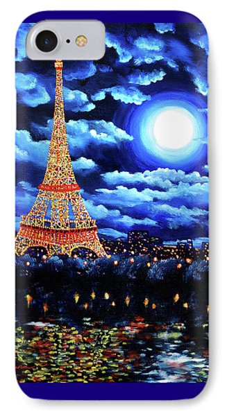 Midnight In Paris IPhone 7 Case by Laura Iverson