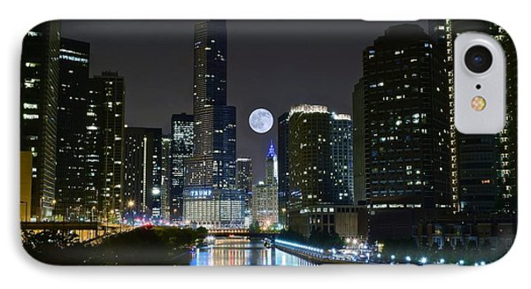 Midnight In The Windy City IPhone Case by Frozen in Time Fine Art Photography