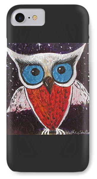 Midnight Owl IPhone Case by Heather Shalhoub