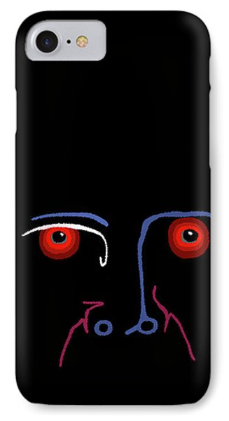 IPhone Case featuring the painting Midnight Rage by Marian Cates