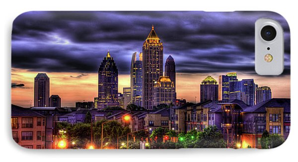 Midtown Atlanta Towers Over Atlantic Commons IPhone Case