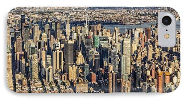 Midtown Manhattan Nyc Aerial View IPhone Case by Susan Candelario
