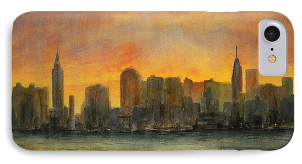 Midtown Morning IPhone Case by Ken Figurski