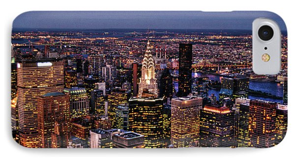 Midtown Skyline At Dusk Phone Case by Randy Aveille
