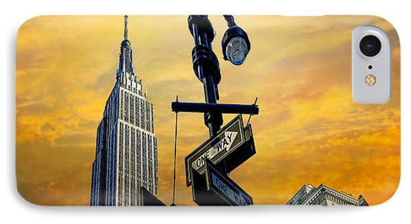 IPhone Case featuring the photograph Midtown Sunset by Chris Lord