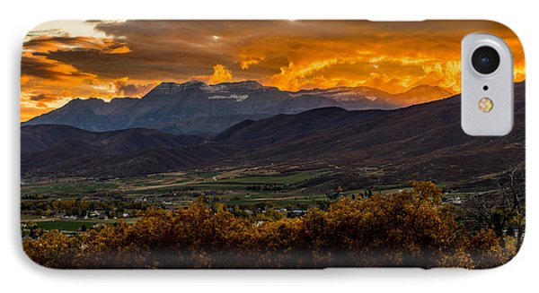 Midway Utah Sunset IPhone Case