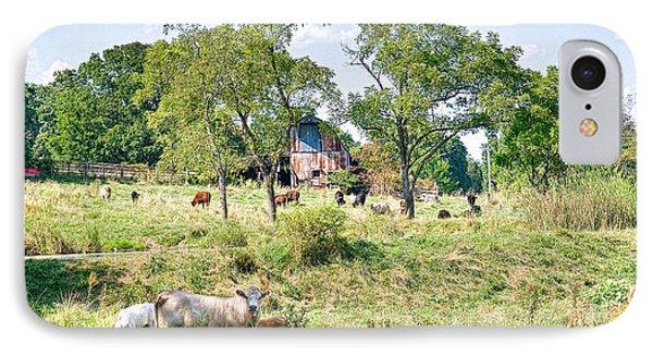 Midwest Cattle Ranch IPhone Case by Scott Hansen