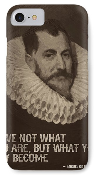 Miguel De Cervantes Quote IPhone Case by Afterdarkness