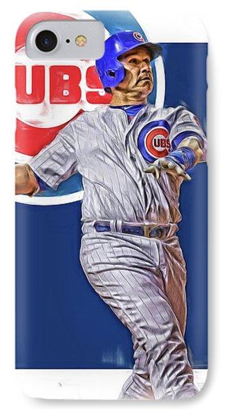 Miguel Montero Chicago Cubs Oil Art IPhone Case by Joe Hamilton