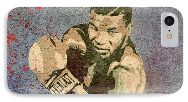 Mike Tyson Concrete Grunge IPhone Case by Dan Sproul