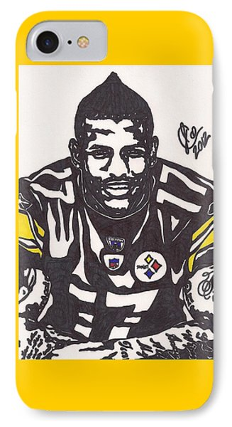 IPhone Case featuring the drawing Mike Wallace 1 by Jeremiah Colley