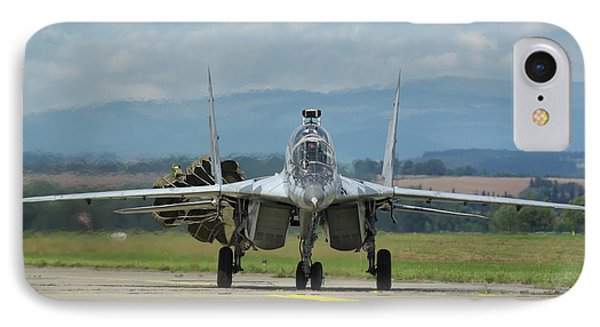IPhone Case featuring the photograph Mikoyan-gurevich Mig-29ubs by Tim Beach