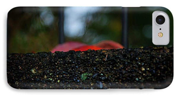 IPhone Case featuring the photograph Miksang 2 Autumn Rain City by Theresa Tahara