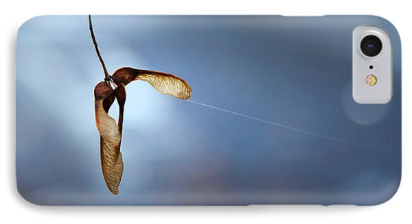 IPhone Case featuring the photograph Miksang 3 Maple Seeds by Theresa Tahara