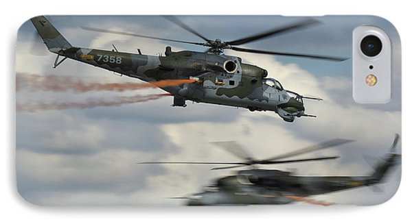 IPhone Case featuring the photograph Mil Mi-24v Hind E by Tim Beach