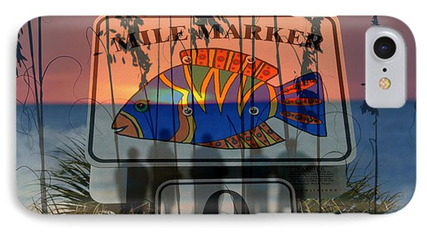 IPhone Case featuring the photograph Mile Marker 0 Sunset by David Lee Thompson