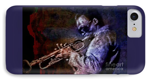 Miles Davis Jazz Legend 1969 IPhone Case by Ian Gledhill