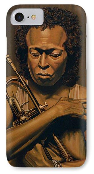 Trumpet iPhone 7 Case - Miles Davis Painting by Paul Meijering