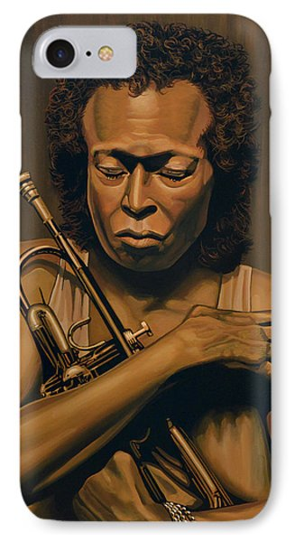 Miles Davis Painting IPhone Case by Paul Meijering