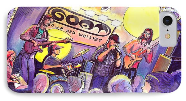 IPhone Case featuring the painting Miles Guzman Band by David Sockrider