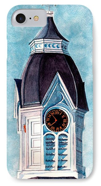 Milford Clock Tower IPhone Case by Janine Riley
