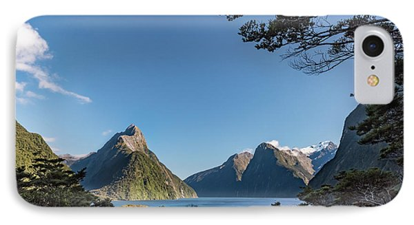 IPhone Case featuring the photograph Milford Sound Overlook by Gary Eason