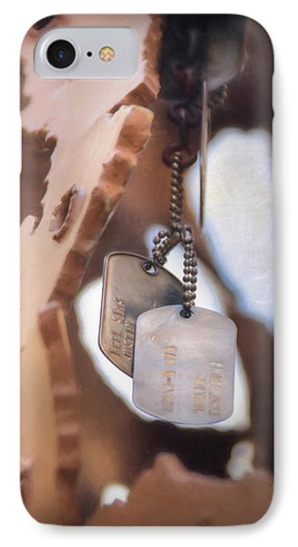 Military Dog Tags IPhone Case by Lori Deiter