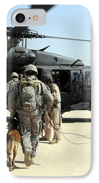 Military Working Dog Handlers Board IPhone Case by Stocktrek Images