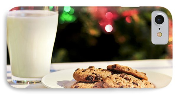 Milk And Cookies For Santa IPhone Case
