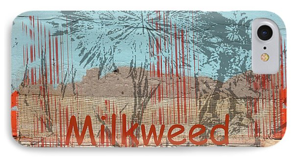 Milkweed Collage Phone Case by Cynthia Powell