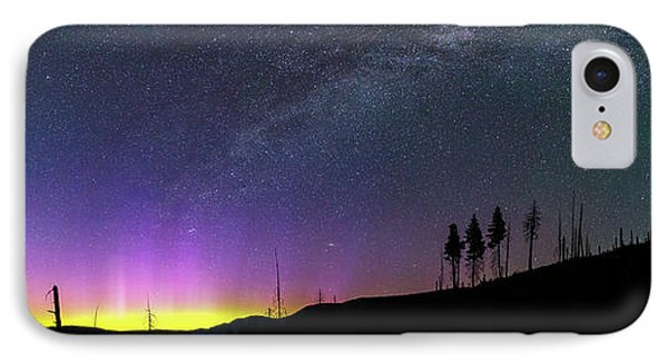 IPhone Case featuring the photograph Milky Way And Aurora Borealis by Cat Connor