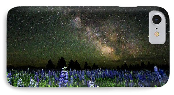 Milky Way And Lupine Phone Case by Cody Gould