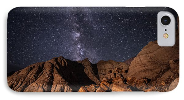 IPhone Case featuring the photograph Milky Way And Petrified Logs by Melany Sarafis