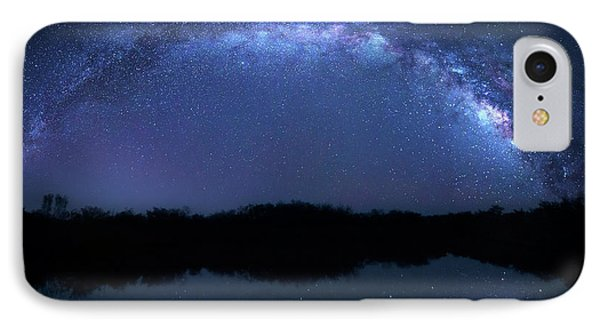 IPhone Case featuring the photograph Milky Way At Mrazek Pond by Mark Andrew Thomas