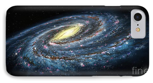 Milky Way Galaxy Oblique IPhone Case by Lynette Cook