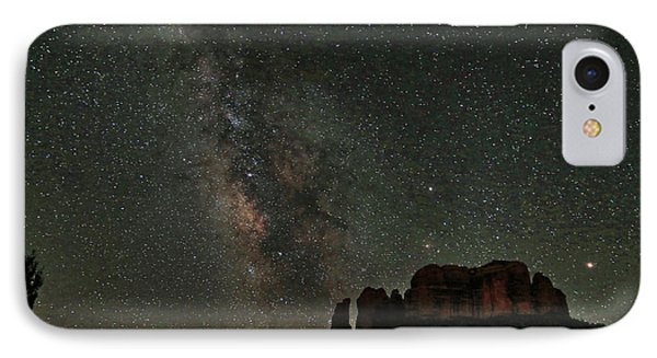 Milky Way Jupiter And Millions Of Sparkling Stars IPhone Case by Donna Kennedy